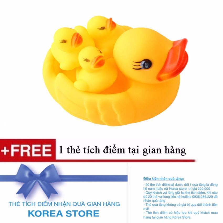 Hình ảnh Đồ chơi bồn tắm cho bé đàn vịt mẹ và con + Tặng kèm 1 thẻ tích điểm KoreaStore
