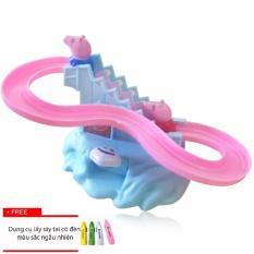 Hình ảnh Đồ chơi cầu trượt Heo Peppa Pig + Tặng kèm dụng cụ hút ray tai có đèn