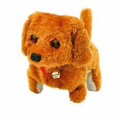 Hình ảnh Đồ chơi chú chó con chạy pin biết di chuyển kêu vây đuôi