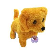 Hình ảnh Đồ chơi chú chó vàng biết đi và sủa dùng pin có đèn