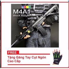 Hình ảnh Đồ chơi cosplay súng bắn đạn nước chạy điện M4 Dark Knight + tặng găng tay cụt ngón cao cấp