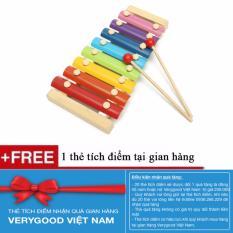 Hình ảnh Đồ chơi đàn gỗ và kim loại màu sắc cho bé + Tặng kèm 1 thẻ tích điểm Verygood