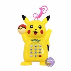 Hình ảnh Đồ chơi điện thoại bàn cầm tay Pikachu dùng pin có nhạc