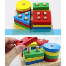 Hình ảnh đồ chơi giáo dục cho bé đồ chơi gỗ thả hình khối cơ bản
