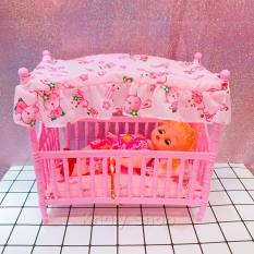 Hình ảnh Đồ chơi giường ngủ kèm búp bê đáng yêu cho các bé ( 22X12X20 ) - DCGNBB001