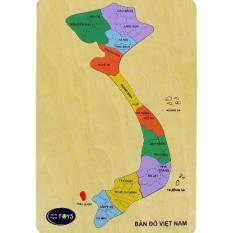 Hình ảnh Đồ chơi gỗ bản đồ việt nam (62242)