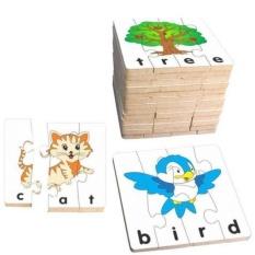Hình ảnh Đồ chơi gỗ - Bộ ghép hình học chữ tiếng Anh 1 C1079