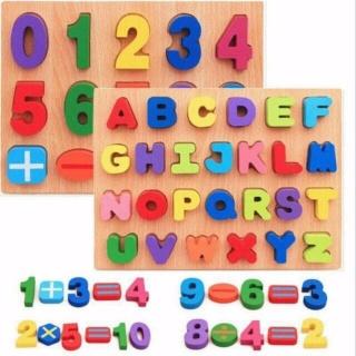 Đồ chơi gỗ - combo bảng chữ cái, bảng chữ số 3D thumbnail