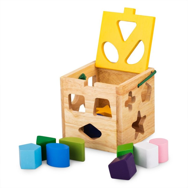 Đồ chơi gỗ Giỏ thả 12 khối Winwintoys C005