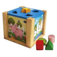 Hình ảnh Đồ chơi gỗ Hộp xếp hình thả khối Winwintoys C024