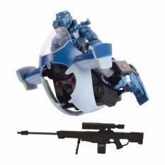Hình ảnh Đồ Chơi Lắp GhépChiến binh Ammobot SK02 kết hợp xe trượt nước WA81312