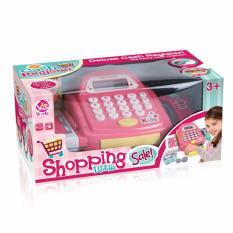 Hình ảnh Bộ đồ chơi máy tính tiền siêu thị cho bé ( mẫu mới có giỏ hoa quả ) Shopping Little