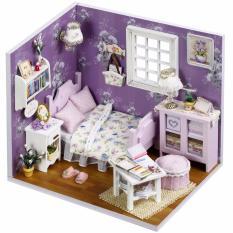 Hình ảnh Đồ chơi mô hình nhà gỗ diy Cute Room H-001(Tặng Mica Che Bụi + Keo )