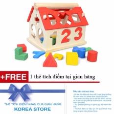 Hình ảnh Đồ chơi ngôi nhà thả hình gỗ thông minh cho bé + Tặng kèm 1 thẻ tích điểm KoreaStore