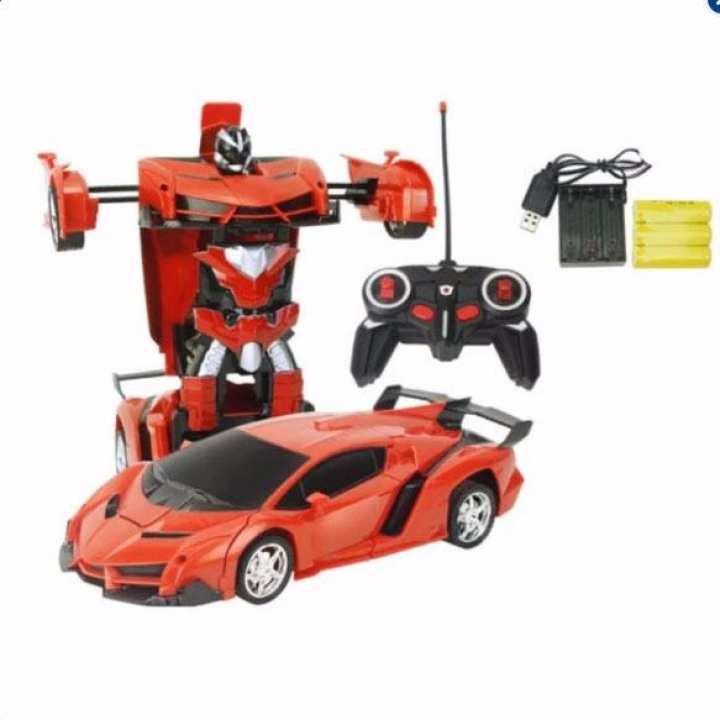 Đồ chơi ô tô biến hình thành Robot Điều Khiển Từ Xa dùng pin sạc