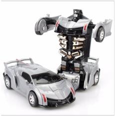 Hình ảnh Đồ chơi siêu xe ô tô biến hình thành Robot (màu tùy ý)