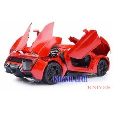 Hình ảnh Đồ chơi siêu xe ô tô mô hình bằng hợp kim tinh xảo cao cấp (màu đỏ)