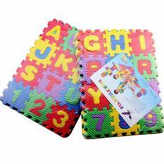 Hình ảnh Đồ chơi thảm xếp hình bảng chữ cái + số mini cho bé
