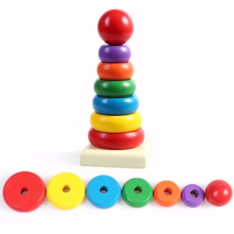 Đồ chơi tháp xếp chồng bằng gỗ
