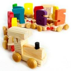 Hình ảnh Đồ chơi xe lửa gỗ chở số bằng gỗ K5