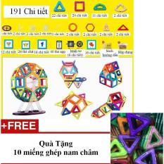 Hình ảnh đồ chơi xếp hình nam châm 191 chi tiết - tặng 10 miếng ghép nam châm