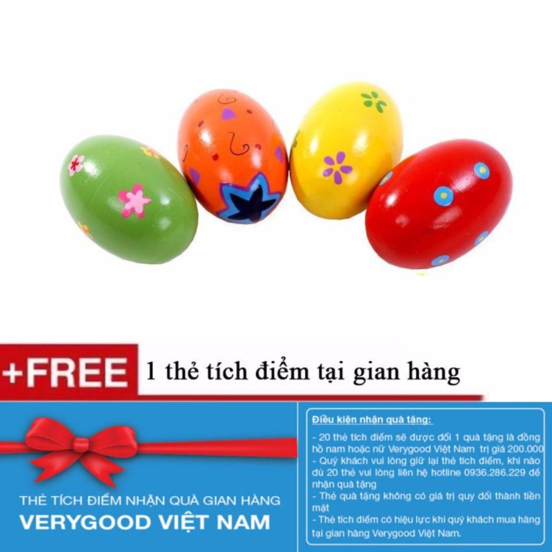 combo 5 Đồ chơi xúc xắc quả trứng bằng gỗ cho bé