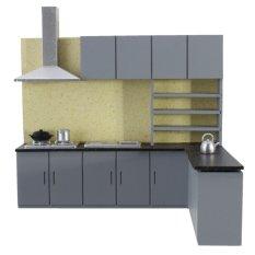 Hình ảnh Dollhouse Art Modern Simulation Kitchen Cabinet Set Model Kit Furniture 1:25 New - intl