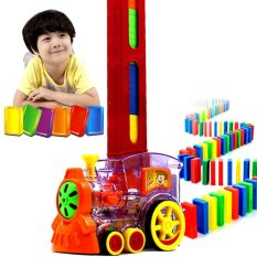 Hình ảnh Domino Automatic Licensing Dominoes Building Blocks Electric Cars Trains Domina Blocks Electric Cars Children Educational Toys - intl