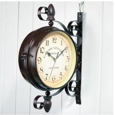 Mua Đồng Hồ Sắt Trang Tri Treo Tường 2 Mặt Cổ Điển Retro Clock