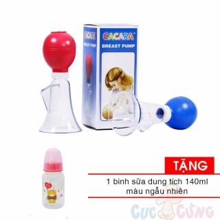 Dụng cụ hút sữa bằng tay Cacara TẶNG 1 bình sữa 140ml bằng nhựa VN thumbnail