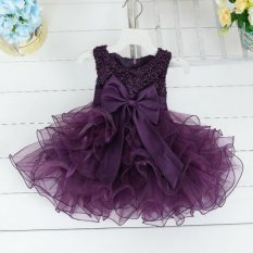 Era Baby Girls Lace Beading Princess Dress Party Wedding Layered Flower Dress Intl Not Specified Rẻ Trong Vietnam