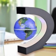 Hình ảnh THỜI ĐẠI Levitation Chống Trọng Lực Quả Cầu Từ Nổi Quả Cầu Bản Đồ Thế Giới có Đèn led Xanh Dương/Vàng Phích Cắm EU-intl
