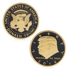 Hình ảnh Erpstore Trump Thiết Kế Đồng Tiền Kỷ Niệm Đồng Tiền Vàng Phối Vàng Nguyên Chất Đen Đồng Tiền Đồng Tiền-quốc tế