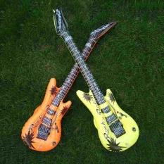 Hình ảnh Fancy Dress Costume Accessory Prop Inflatable Guitar Blow up Musical Rock Roll - intl