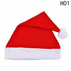 Hình ảnh Fancyqube 6 cái/lốc 2 Size Đỏ Santa Nón Giáng Sinh Nón Cho Trang Trí Giáng Sinh & Santa Trang Phục Dự Tiệc Cung Cấp Giáng Sinh H01 (con) -quốc tế