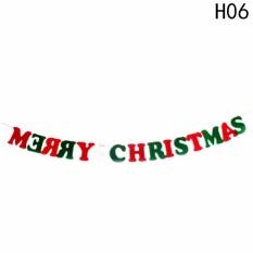 Hình ảnh Fancyqube Christmas Decorations Hanging Flag Cloth Flags Non-woven Triangle Windows Pull Flag H06 - intl