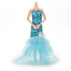 Hình ảnh Fashion Fishtail Skirt For Barbie Doll Blue - intl