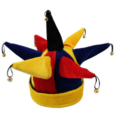Hình ảnh Funny Multicolor Jester Clown Hat for Halloween Christmas Mardi Gras Party Costume Props - intl