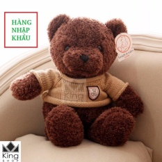 Hình ảnh Gấu Bông Teddy Áo Len Cao Cấp Khổ Vải 60cm Cao 40cm - GB04 - Gấu Teddy Nhập Cao Cấp