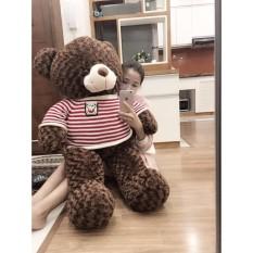Hình ảnh Gấu bông Teddy Cao Cấp khổ vải 1m2 Cao 1m màu Nâu hàng VNXK