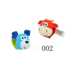 Hình ảnh GETEK Animal rattles baby animal watch with wrist band / socks with bells baby newborn toys - intl