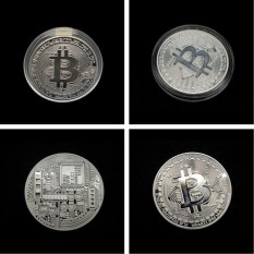 Hình ảnh GETEK Rare Bitcoin Gift Stock Golden Iron Commemorative Coin Gifts Collectible - intl