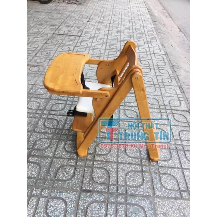 Ghế ăn dặm cho bé gỗ tự nhiên - tăng...