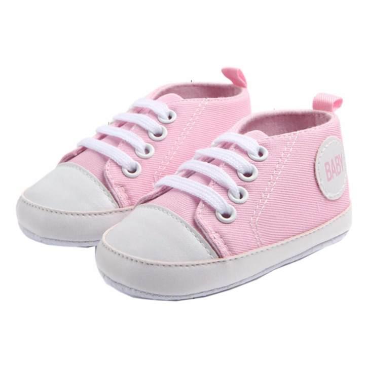 Giày tập đi bé gái Đế Vải Topstar BABY-14 cho bé bàn chân chiều dài 12.5cm (hồng phấn)