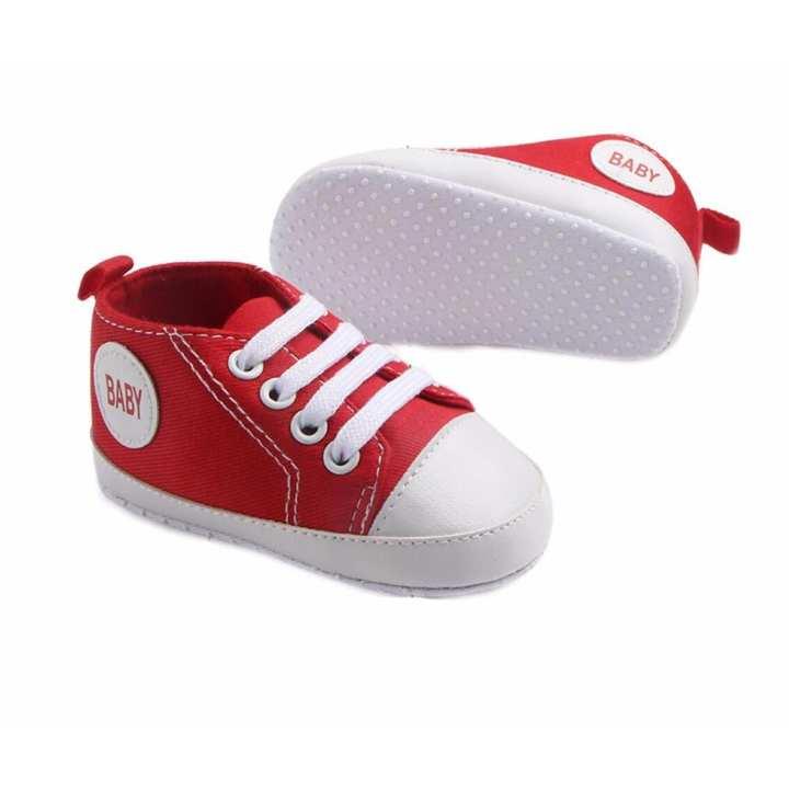 Giày tập đi bé trai Siêu Mềm Topstar BABY-14 cho bé bàn chân chiều dài 12.5cm (đỏ)