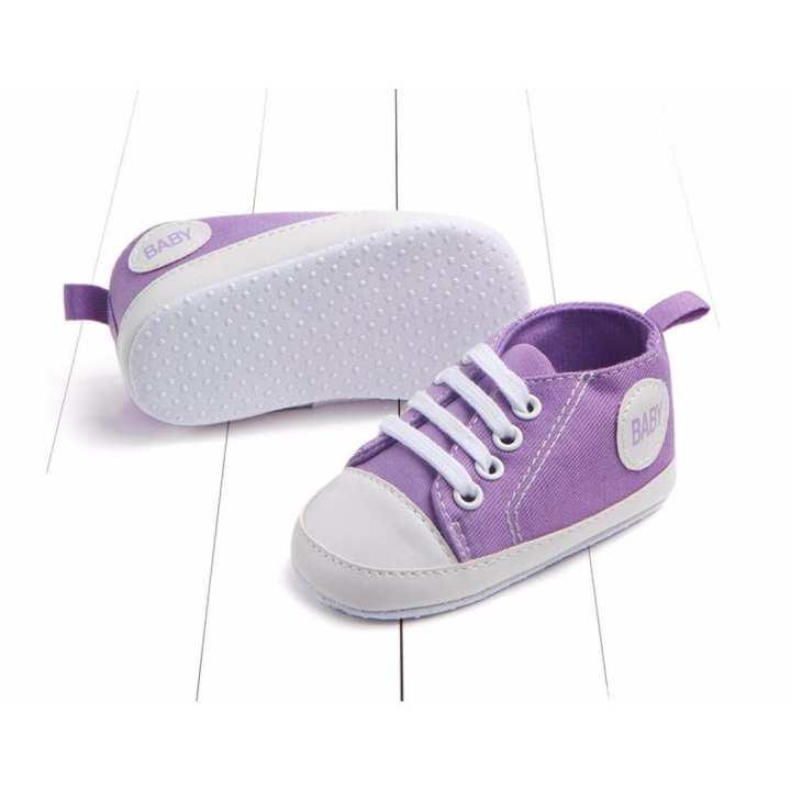 Giày tập đi bé trai Siêu Mềm Topstar BABY-14 cho bé bàn chân chiều dài 12.5cm (tím)