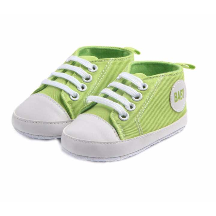 Giày tập đi bé trai Đế Vải Topstar BABY-14 cho bé bàn chân chiều dài 12.5cm (xanh lá)
