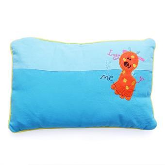 Gối Nằm Vỏ Đậu Xanh Cho Bé màu xanh 30 x 25cm – Giúp Bé Ngủ Ngon