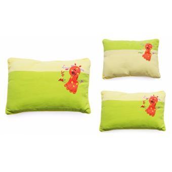 Gối Nằm Vỏ Đậu Xanh Cho Bé màu xanh lá 30 x 25cm – Giúp Bé Ngủ Ngon