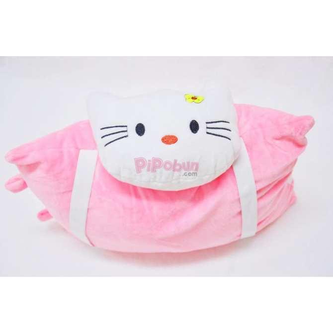 Hình ảnh Gối xe một đầu Pipobun hình Kitty màu hồng- HappyLive Shop